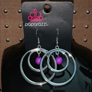 Purple bead hoops